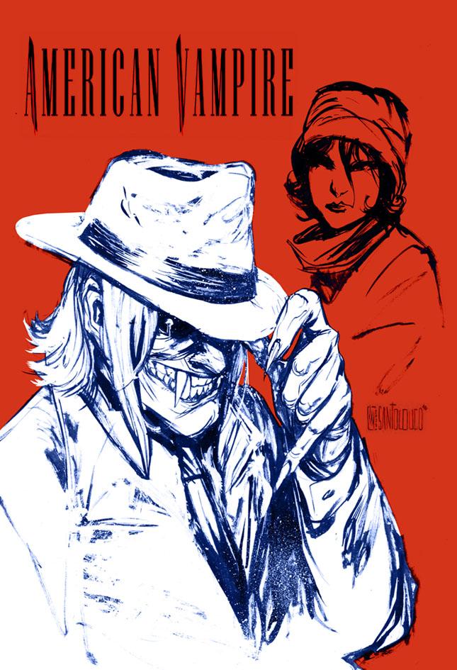 American Vampire sketch by Santolouco