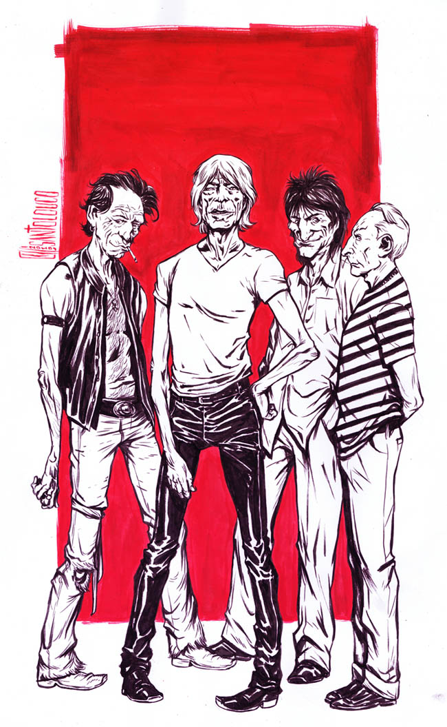 The Rolling Stones by Santolouco