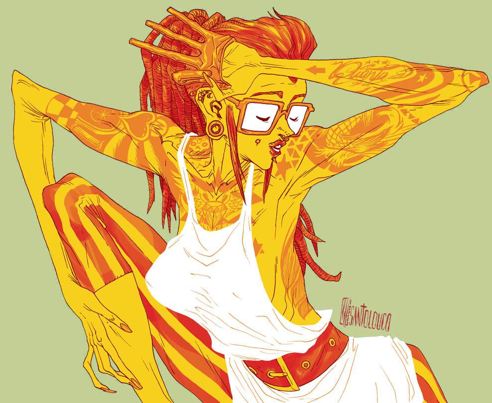 Modern Girl 3 by Santolouco