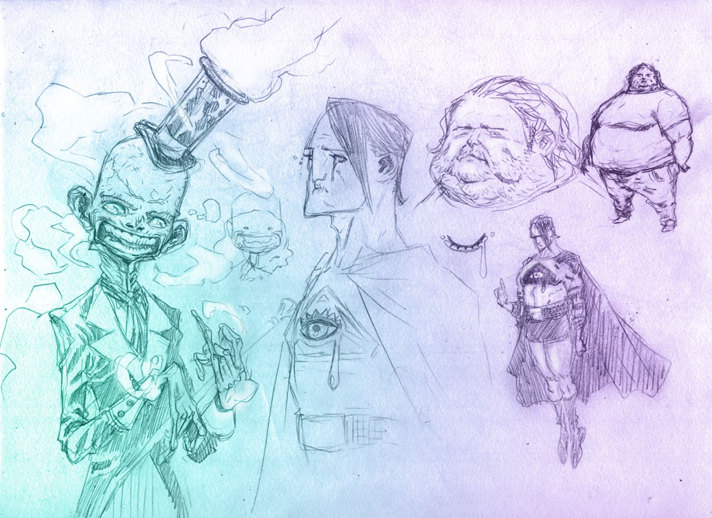 Dial H_character design studies by Santolouco