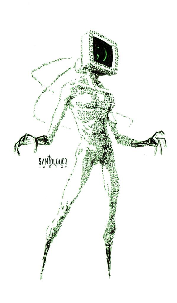 Ctrl+Alt+Del_DIAL H_character design by Santolouco