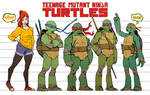 TMNT_height and physical structures model sheet
