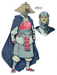 Takeshi Tatsuo of Yuu_character design by Santolouco