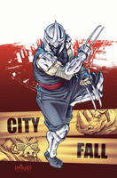 TMNT#28: City Fall_cover by Santolouco