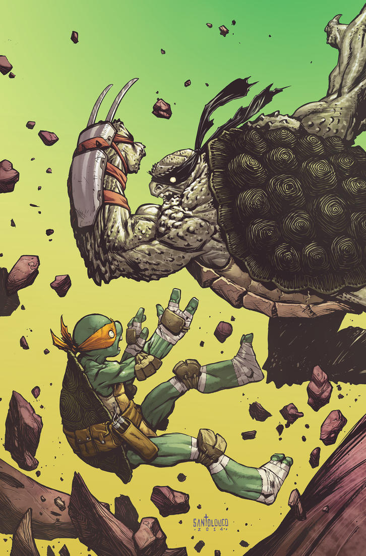 TMNT#35_cover by Santolouco