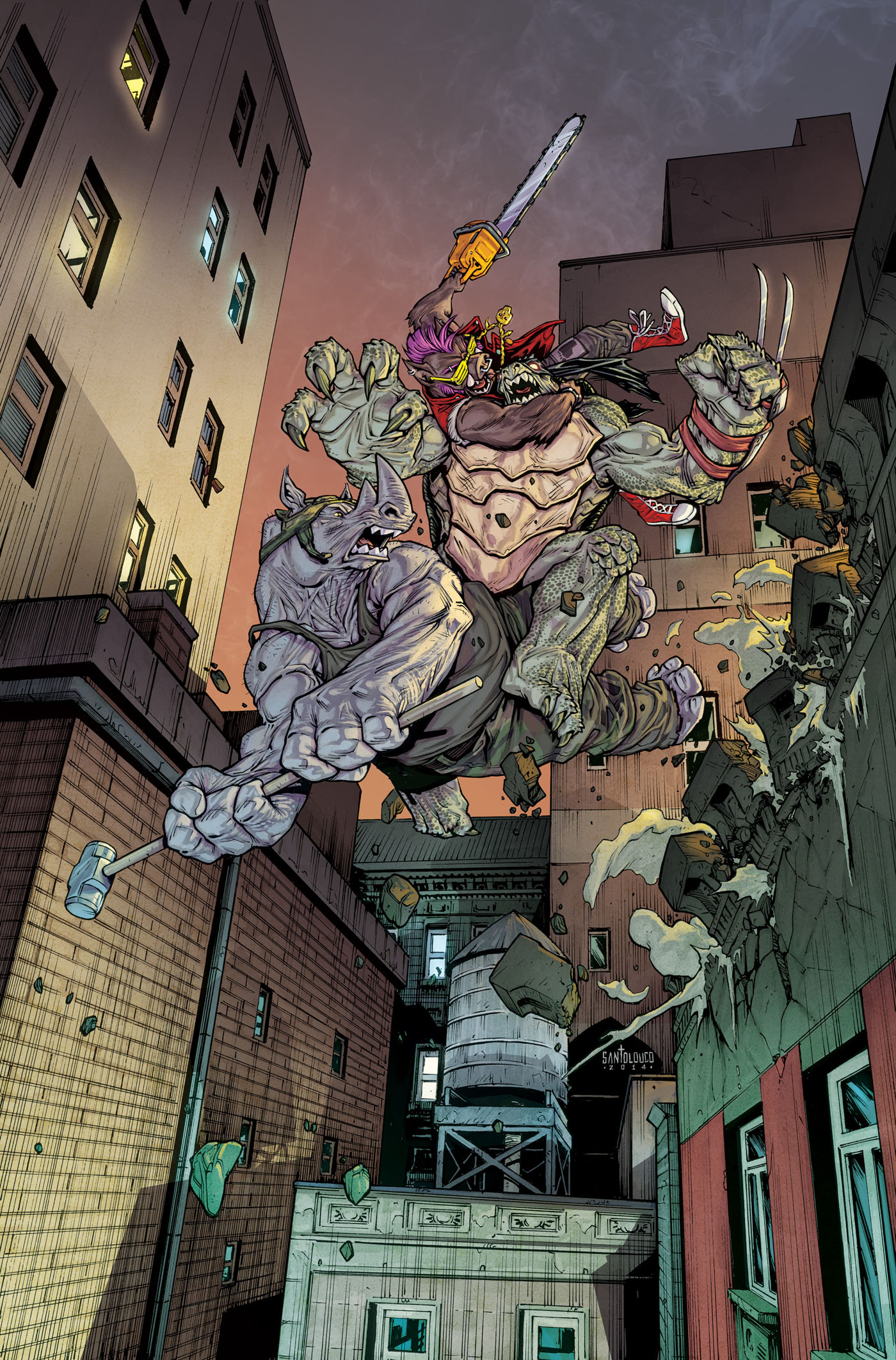 TMNT#39_cover by Santolouco