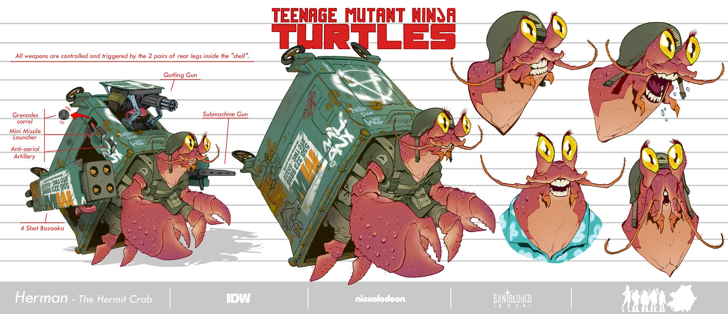 Herman-The Hermit Crab_TMNT_Design by Santolouco
