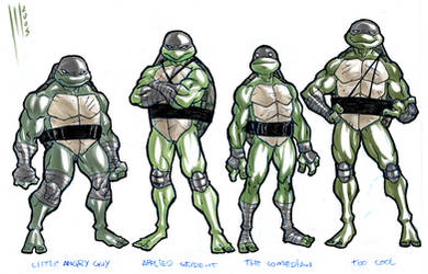 Turtles Structure quick sketch by Santolouco