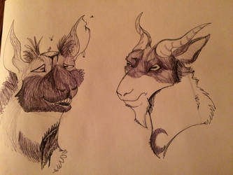 Zombie Were-Goats! by UnDeAdCharizard