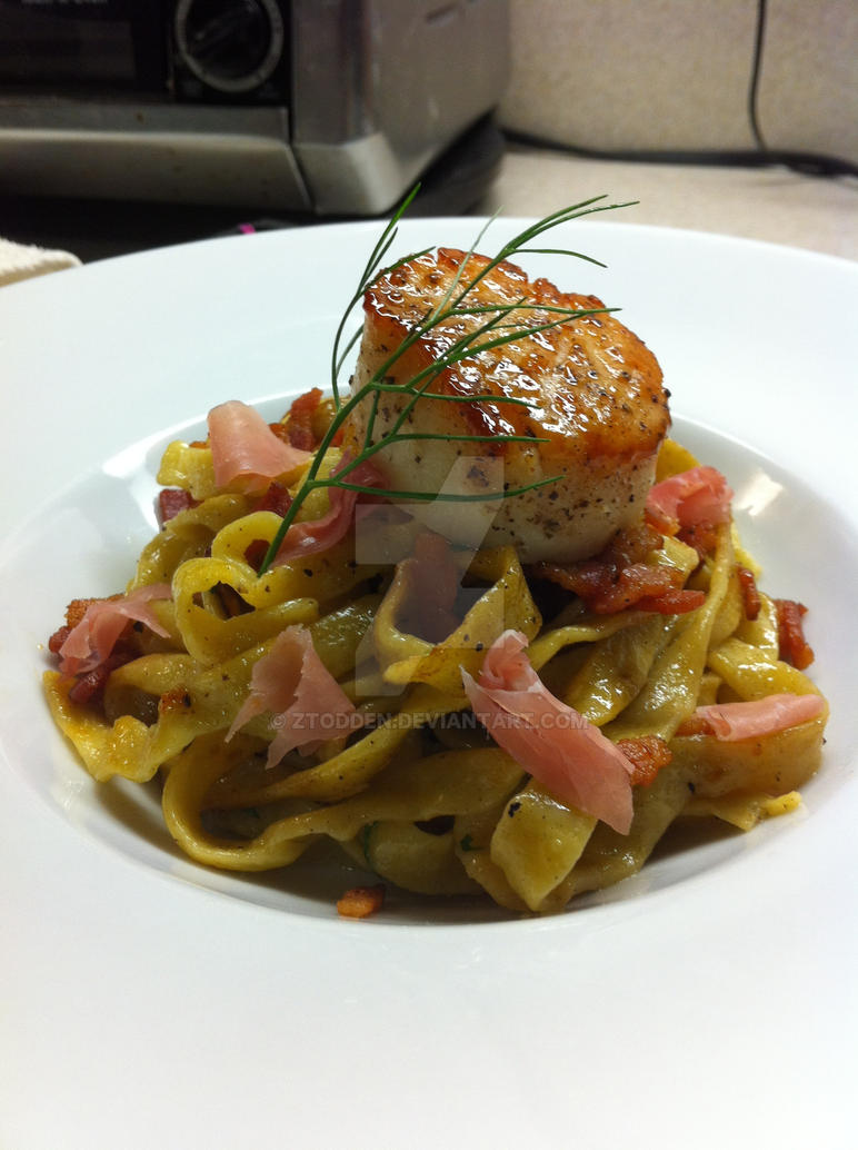 Scallop Carbonara by ztodden