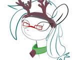 Hyemal reindeer sketch