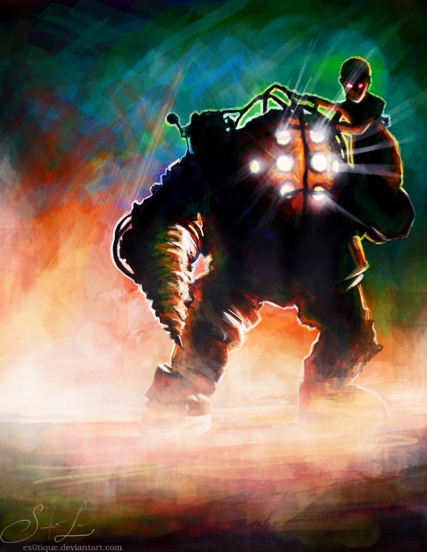 Astronaut Big Daddy (Bioshock fanart) by Oxeren on