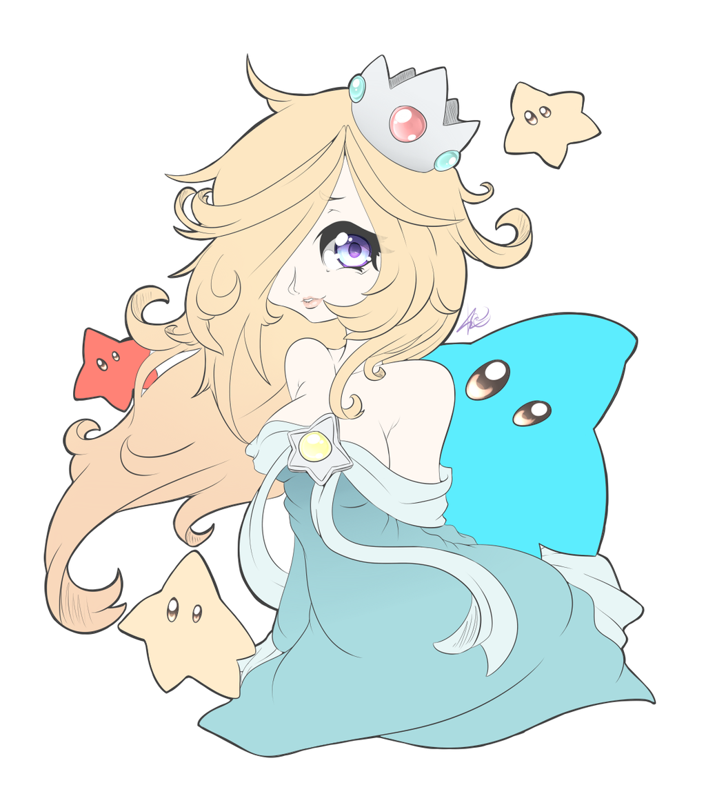 how to draw rosalina and luma