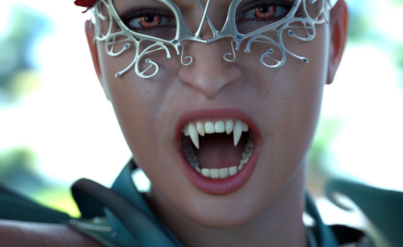 VAMPIRE BITE ME test render by MaskDemon