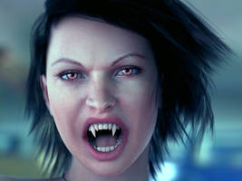 Vampire hair by MaskDemon