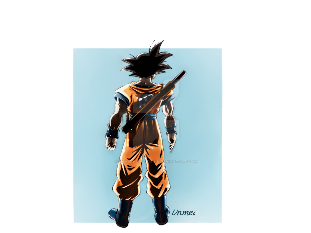 Adult Goku with Power Pole by Unmei-no-kaioshin