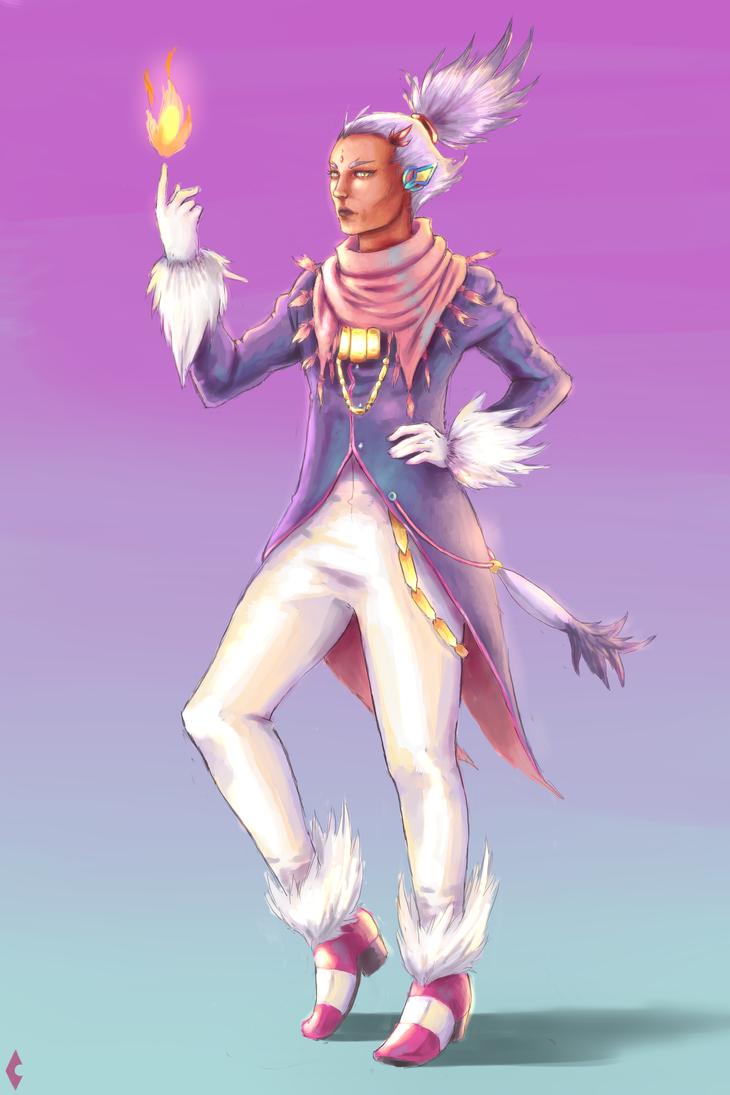 Sonic Rush Blaze Human Character Design. by HaruKazuhira