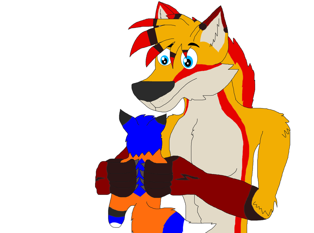 Your Holding A Plushie Of Me by Perithefox10
