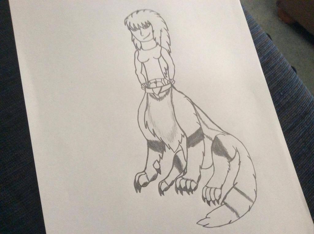 Fox Taur Me Sitting by Perithefox10
