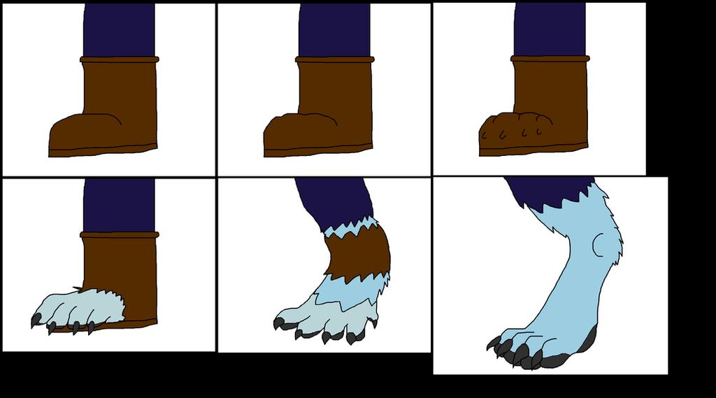 Peri Longfox Werewolf Paw Feet Tf by Perithefox10