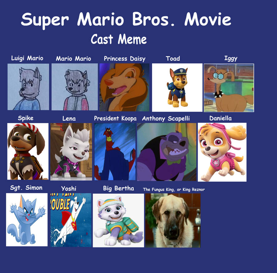 Super Mario Bros Movie Meme Cast By Perithefox10 On Deviantart