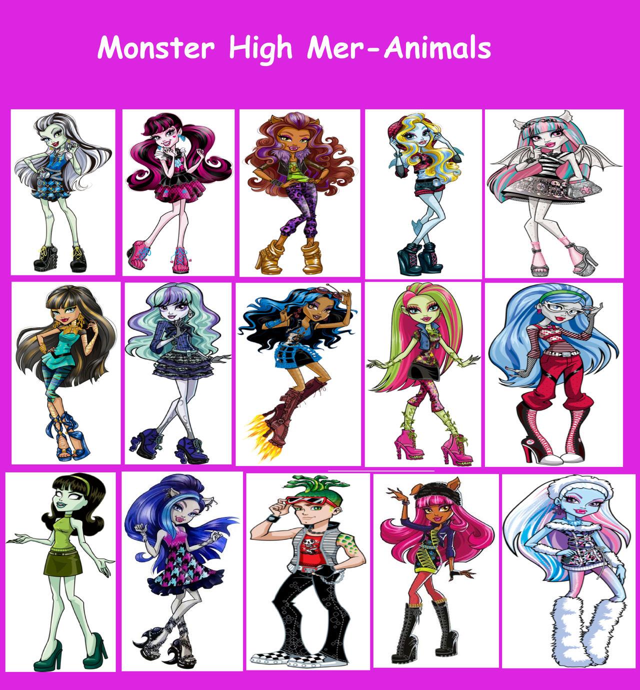 Monster High Mer Animals By Perithefox10 On Deviantart