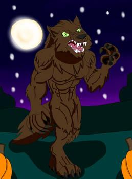 Werewolf Pumpkin Patch Commission Vector Werewolf