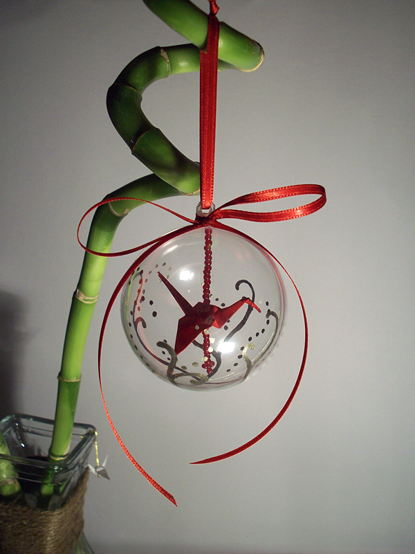 origami crane ornament by sarinilli on deviantart