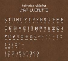 Subrosian Alphabet by Sarinilli