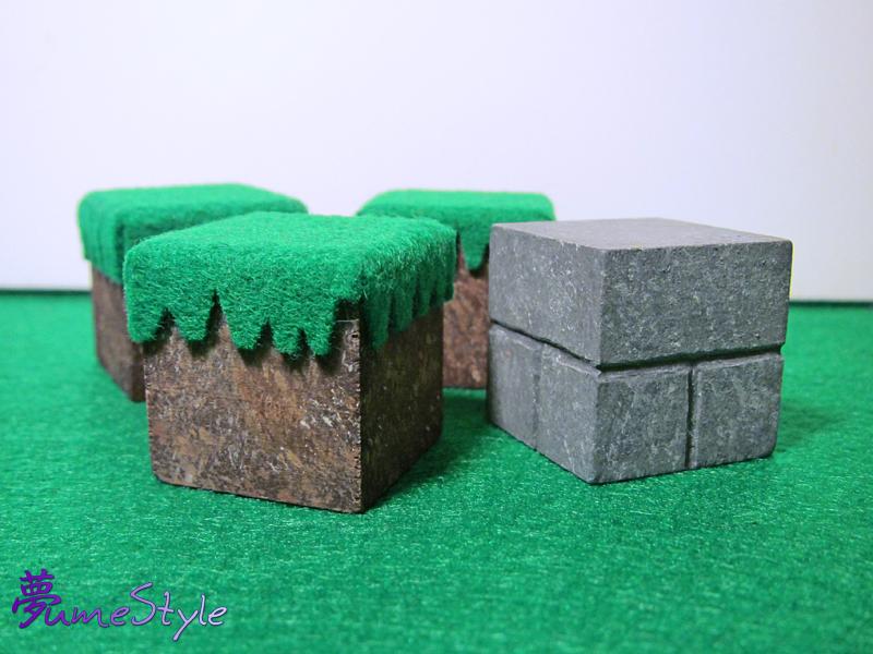 Minecraft Stone Block : Minecraft blocks grass and stone brick by sarinilli on