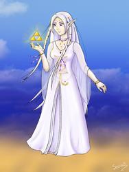 The Guardian Goddess Hylia by Sarinilli