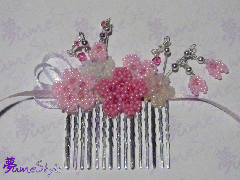 Sakura Matsuri Hair Comb - Commission by Sarinilli