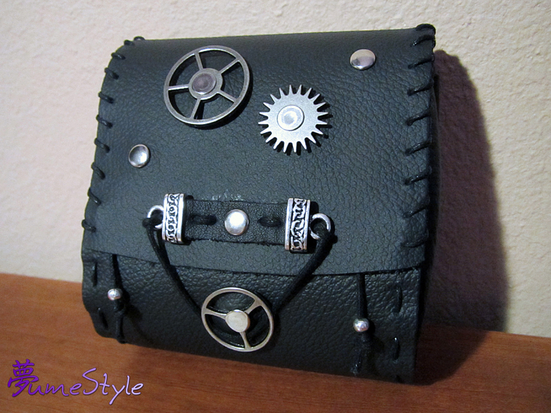Steampunk Leather Pouch by Sarinilli