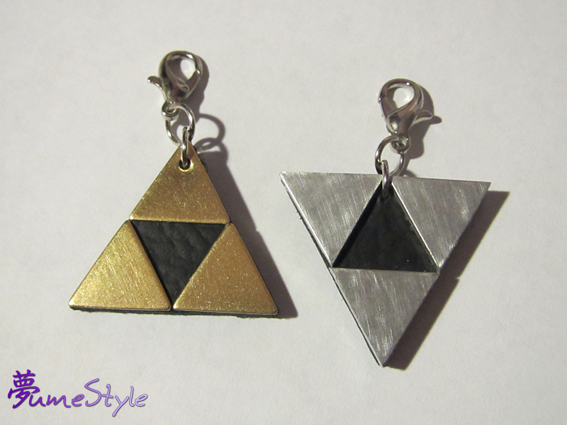 Triforce and Inverted Triforce Charms by Sarinilli