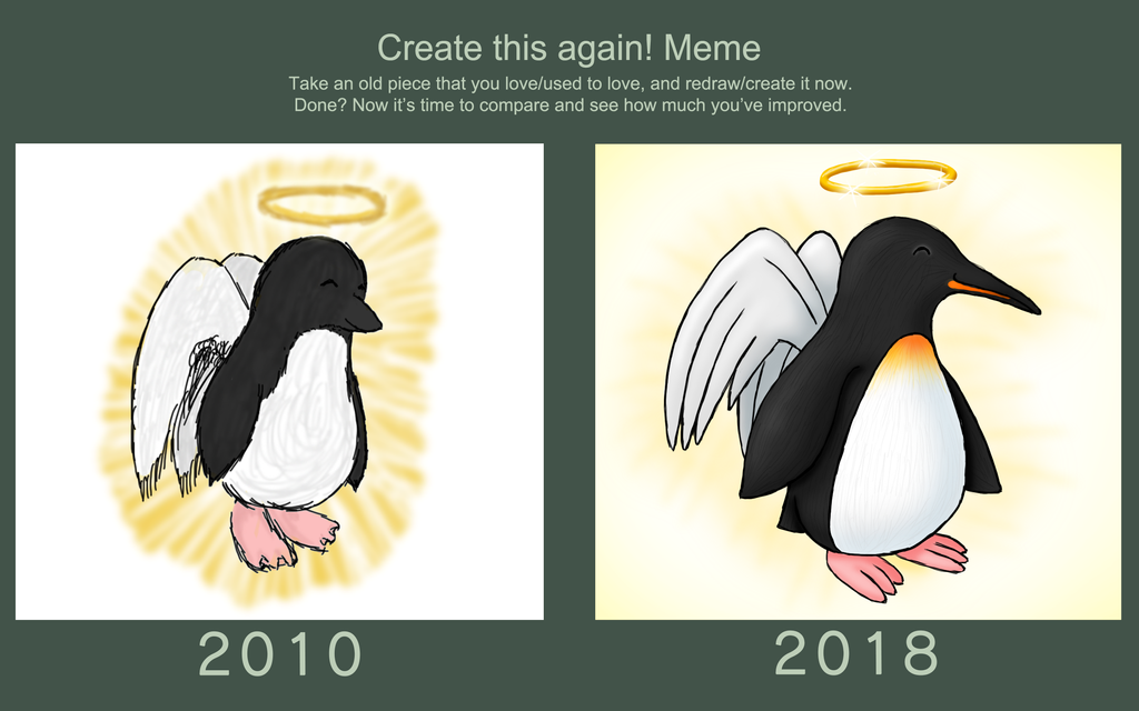 Create This Again Meme - Angelic Penguin by Sarinilli