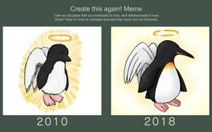 Create This Again Meme - Angelic Penguin