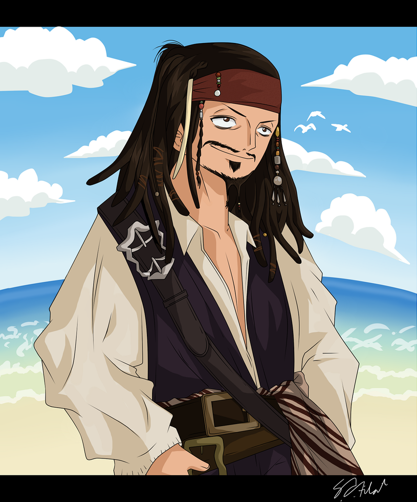 Chatter For Theories On One Piece: Captain Jack Sparrow By Darthfilart On DeviantArt