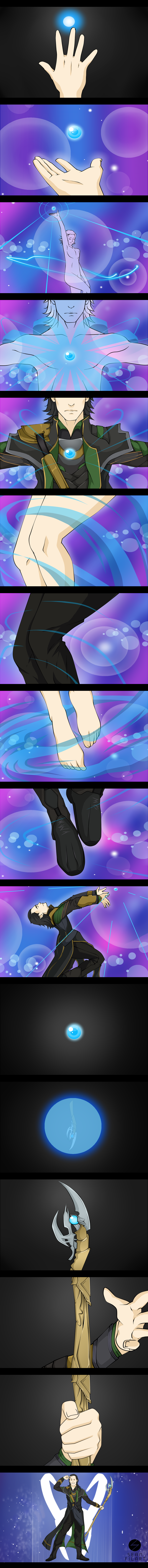 Sailor Loki, The Mahou Shoujo of Mischief by darthfilart