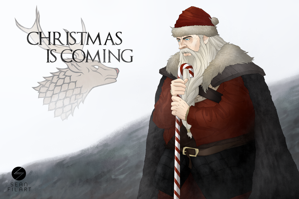 Christmas is Coming . . . Coming To Town by darthfilart