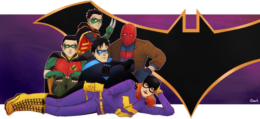The Batman Club #BatmanDay2017 by darthfilart