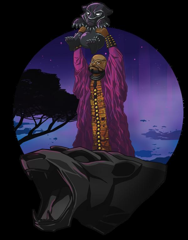 Panther King by darthfilart