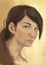 Autoportrait digital Painting