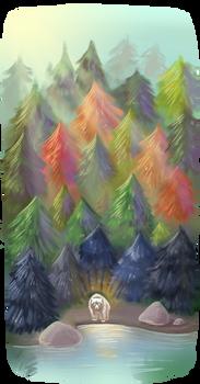Spirit in forest