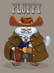 Fluffy the cowboy