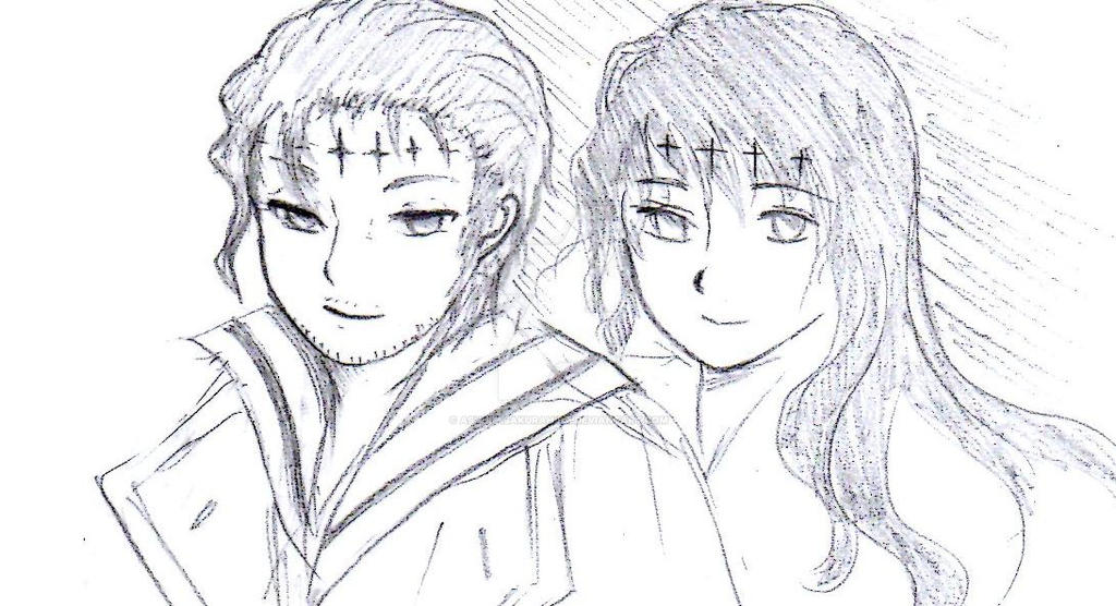 Adam and Mana by Ashurasakurahime