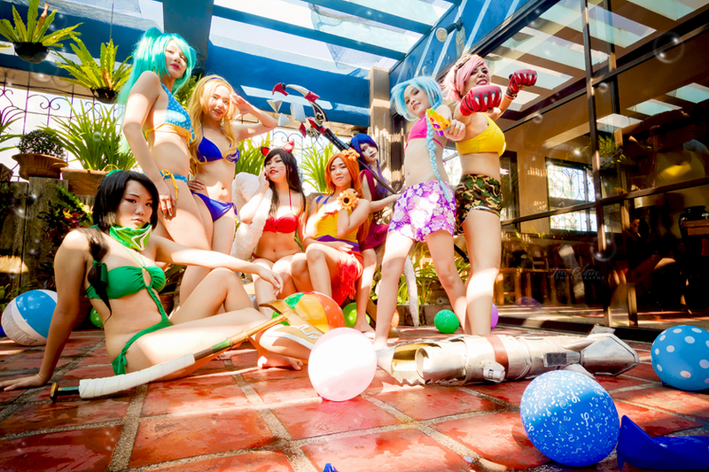 LoL Pool Party - Ladies of the League by LittleEloquentDoll
