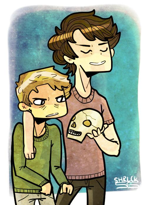 Skull Friends by SherlockShiverNShake