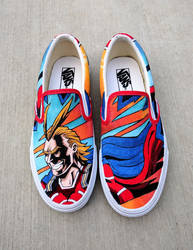 Canvas Shoe Art: All Might