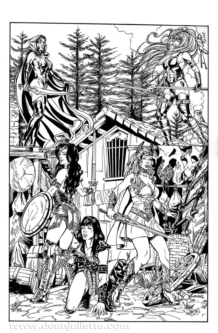 Princesses: Wonder Woman/She-RA/Xena/Glory/Mantra by DeanJuliette