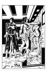 Batgirl, Wonder Woman and Mercy by DeanJuliette